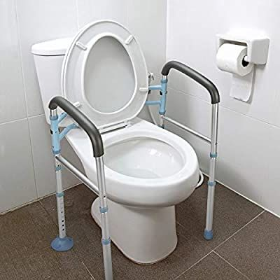 Oasisspace Stand Alone Toilet Safety Rail Heavy Duty Medical Toilet Safety Frame For Elderly Handicap And Disabled Bathroom Toilets Toilet Shower Grab Bar