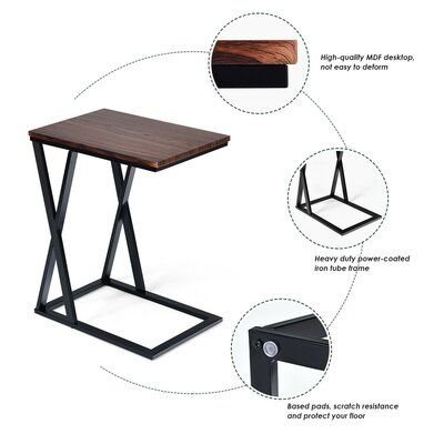 17 Stories Piero Frame End Table Wayfair In 2021 End Tables Snack Table Side Table