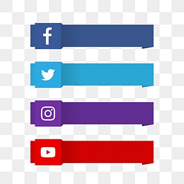 Modern Social Media Lower Third With Logo Logo Clipart Modern Banner Png And Vector With Transparent Background For Free Download In 2021 Social Icons Social Media Social Media Icons