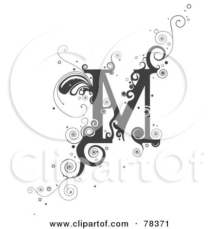 bcc20e278f02a Royalty-Free (RF) Clipart Illustration of a Vine Alphabet Letter M by BNP  Design Studio