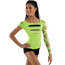 Short Sleeve Slash Front Dance Top - Balera $18