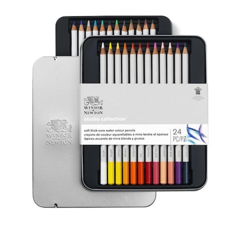 Winsor Newton Studio Collection Water Colour Pencil Tin Set