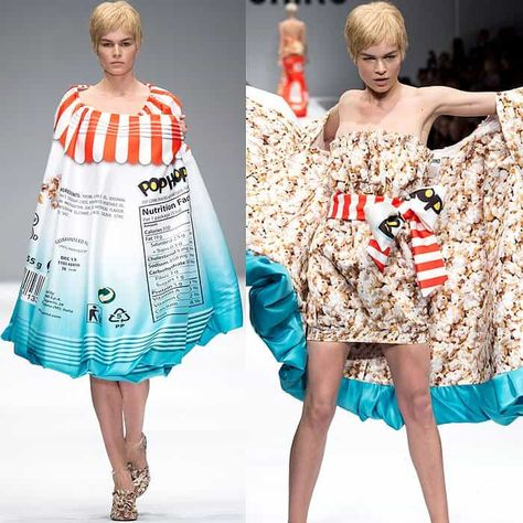 Jeremy Scott Serves Up Junk Food Dresses for Moschino Fall 2014