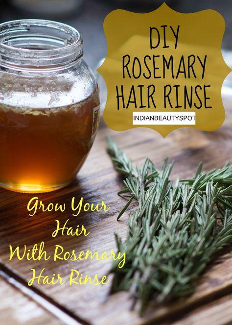 DIY Hair Growth with Rosemary Rinse