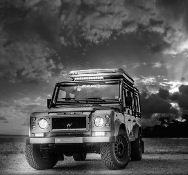 Land Rover Defender 110 lifestyle. Lazer RS4 & T16 LED Lights