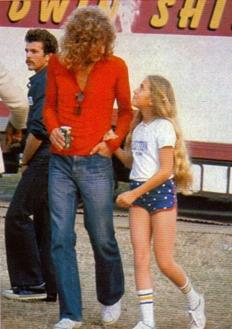 Robert Plant of Led Zeppelin with Daughter Carmen Jane I looked just like his daughter @ yrs old!