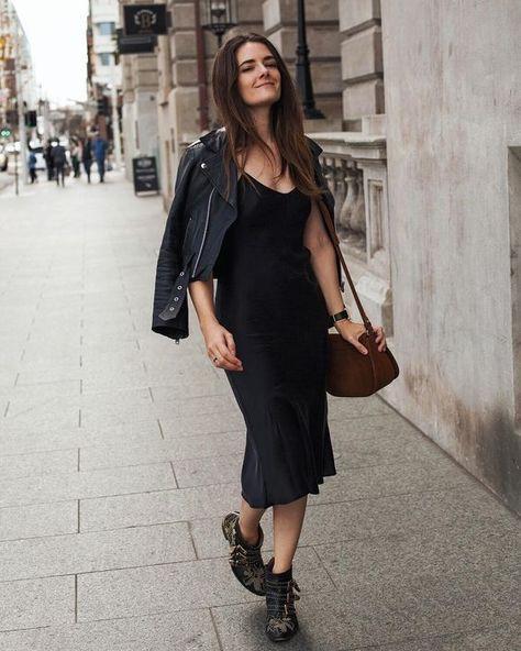 849ae83ac5b0 SIlk slip trends black slip dress midi beliano fall look outfit ideas  spring boots fashion trends #look #lookideas #outfitideas #trends #slipdress  ...