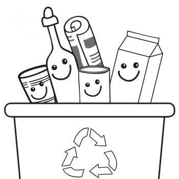Dibujos Infantiles Para Pintar Y Ensenar A Reciclar Medio Ambiente Para Colorear Educacion Ambiental Para Ninos Reciclaje