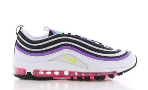 Air Max 97 Wit/Paars Dames | Air max sneakers, Nike air max ...