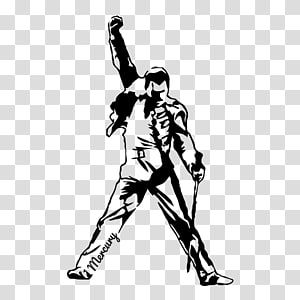 Freddy Mercury Art Decal Bumper Sticker Queen The Freddie Mercury Tribute Concert Queen Transparent Background Png Cl Freddy Mercury Siluetas Freddie Mercury