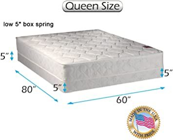 Legacy One Sided Mattress And Low Profile Box Spring Set With Mattress Cover Protector Included None Flip Orthopedic Box Spring Mattress Covers Spring Set