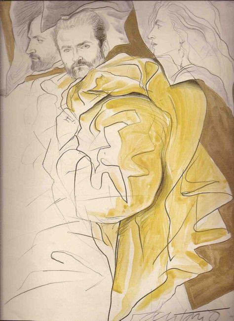 Antonio Lopez Illustrated Versace 4 Page Anna Piaggi Editorial