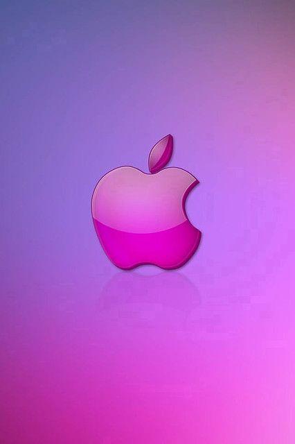 Pink Apple Logo Apple Logo Wallpaper Iphone Apple Background Apple Wallpaper