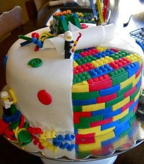 Funny Birthday Cakes Lego Birthday Cake Ideas Pinterest