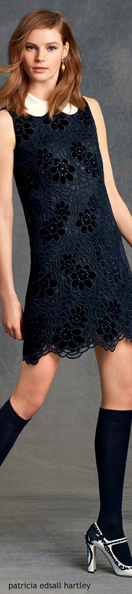 Dolce & Gabbana - Winter 2016 black lace dress.  women fashion outfit clothing stylish apparel @roressclothes closet ideas