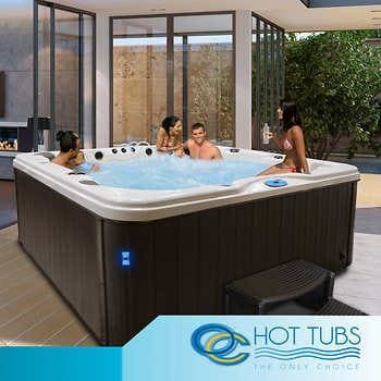 Oc Hot Tubs Monterey 56 Jet 6 Person Lounge Spa Hot Tub Hot Tub Outdoor Hot Tub Landscaping