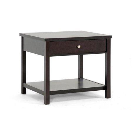 Baxton Studio Nashua Brown Modern Accent Table And Nightstand Size