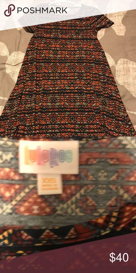 LuLaRoe Carly Dress Geometric Print Carly LuLaRoe Dress! Excellent quality. LuLaRoe Dresses