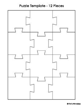 Jigsaw Puzzle Templates Pdf Make Your Own Jigsaw Puzzle