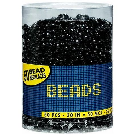 Black Beaded Necklaces | 50ct