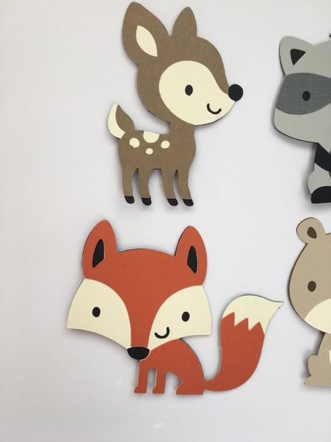 Set of 4 Woodland Animal Die Cuts