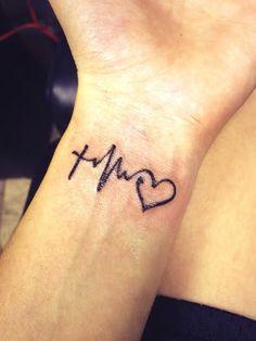 2520c7cb5b464 Faith hope love tattoo google search more heartbeat on wrist tattoos also  pam courtney pamalalc pinterest