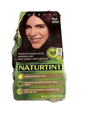 Naturtint Phergal 4m Mahogany Chestnut Permanet Hair Color Ammonia Free Ebay Hair Color Permanent Hair Color Long Hair Color