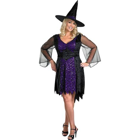 RetroFun Halloween Costume Witch Hat Halloween Witch Fancy Dress Accessory for Holiday Halloween Party,Black