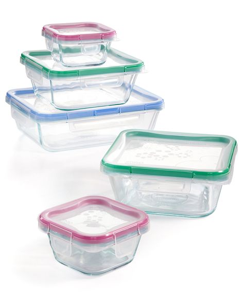 Snapware 10 Pc Glass Meal Prep Set Reviews Kitchen Gadgets Kitchen Macy S Snapware Glass Food Storage Containers Food Storage Containers