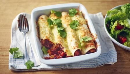 Bbc food recipes quick beany enchiladas lunch and dinner bbc food recipes quick beany enchiladas lunch and dinner pinterest food recipies and recipes forumfinder Images