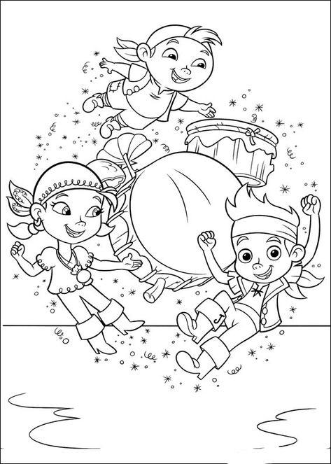 jake und die nimmerland piraten 12 ausmalbilder für kinder