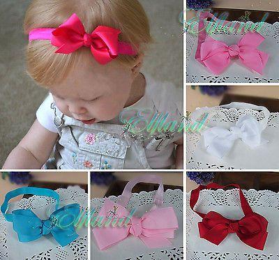 Baby Mädchen Schleife Girl Bow Ruffle Haarband Stirnband Kopfband Haarschmuck