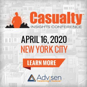 Join Advisen S Casualty Insights Conference On Thursday April 16 In New York City This One Day Program Presents A Rare In 2020 Casualty Commercial Insurance Insight
