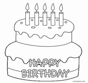 Birthday Cake Coloring Page Simple Birthday Cake 20 Birthday Cake