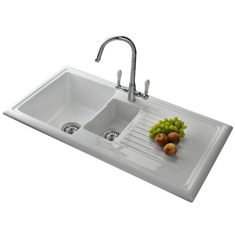 1 5 Bowl Inset Kitchen Sink Sink Best Kitchen Sinks Ceramic Kitchen Sinks
