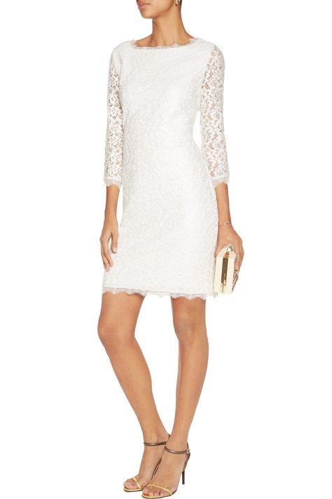 e44c4ce2e214 Shop on-sale Diane von Furstenberg Zarita metallic cotton-blend corded lace  dress. Browse other discount designer Dresses   more on The Most  Fashionable ...