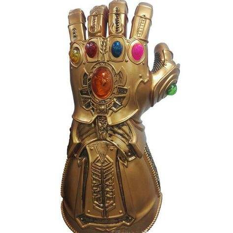 Avengers Infinity War Infinity Gauntlet Light Thanos LED Gloves Cosplay Prop