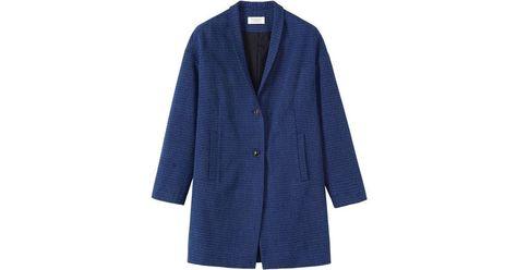 RRP £45 M/&S Per Una Navy Mix Pure Cotton Folk Design Cardigan