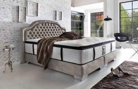 Boxspringbett  - luxurioses bett design hastens guten schlaf
