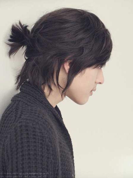 Ponytail Hairstyles For Long Hair Men Hairstylo Asian Long Hair Long Hair Styles Asian Haircut