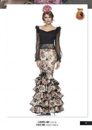 37a45f258 CORPIÑO Y FALDA AIRE | flamenca | Trajes de flamenco, Vestidos de ...