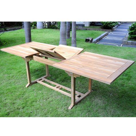 Table En Teck De Jardin Pour 10 Personnes Table Rectangulaire A