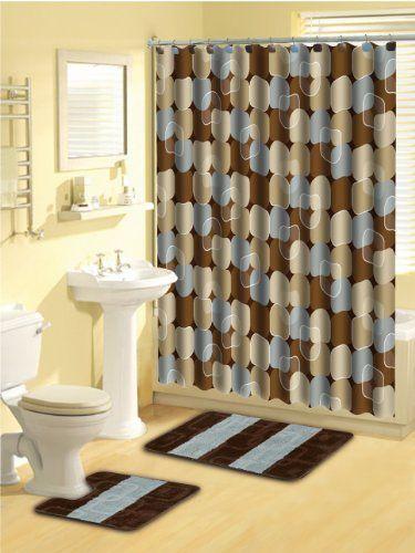 Home Dynamix Lux03 309 Luxury Polyester 15 Piece Bath Set Blue