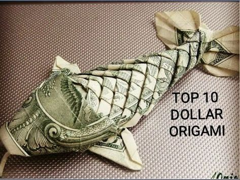 Top 10 Dollar Origami The Most Beautiful Origami Rose, Origami Ball, Origami Dragon, Origami Stars, Origami Flowers, Oragami Money, Tooth Fairy Money, Money Bouquet, Origami Instructions