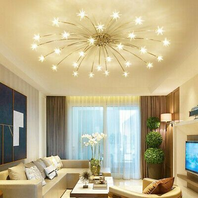 Modern Bedroom Living Room Simple Led Chandelier Lighting Lamp Ceiling Pendant Ebay Bedroom Ceiling Chandelier Ebay In 2020 White Lamp Home Decor Bedroom Decor