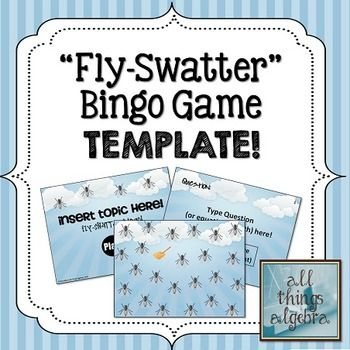 Fly Swatter Bingo Template Super Fun In Which The Flies Really Do For All Ages And Subject Areas My Tpt Things Algebra