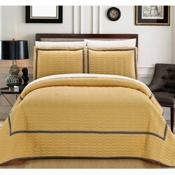 Janda 7 Piece Quilt Set Hotel Collection Bedding Quilt Sets Yellow Quilts