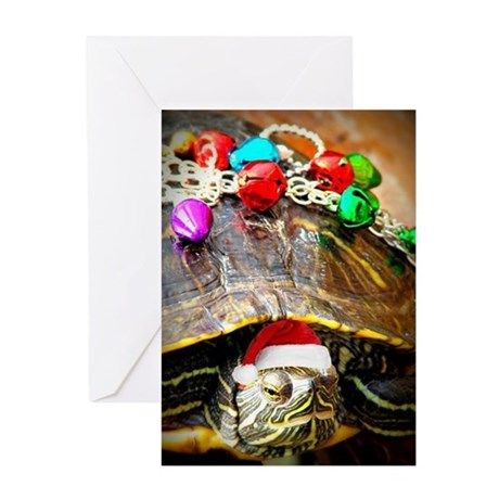 Cute Turtle Amazing Christmas Personalized Christmas Greetings Card