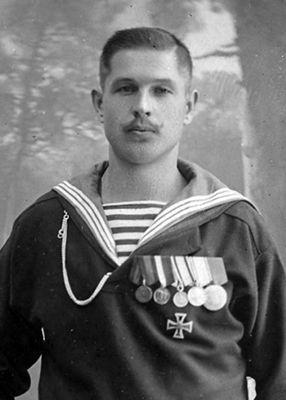 Photo of young sailor Klementy Nagorny aid to Alexei