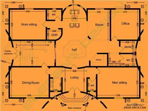 فيلا رائعه حل معماري لأحد عملاءنا من اعمال 1elegant Design Arab Arch Model House Plan House Layout Plans House Floor Plans